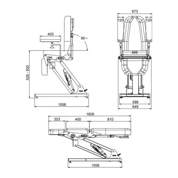 dimensions-fauteuil-électrique ODIL SAS
