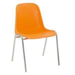 chaise salle attente monocoque-orange ODIL SAS